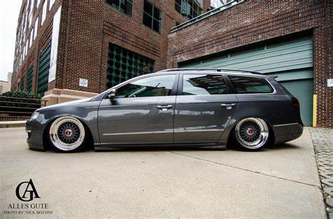 Slammed At A Golf Tourna passat wagon on air with rotiform'ed 18\