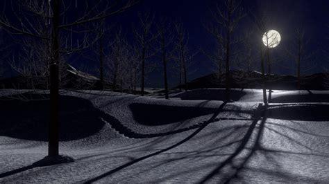blender  tutorial create  snowy moonlit landscape