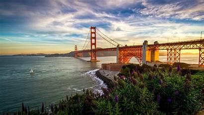 Bridge Gate Golden Sunset Francisco San California
