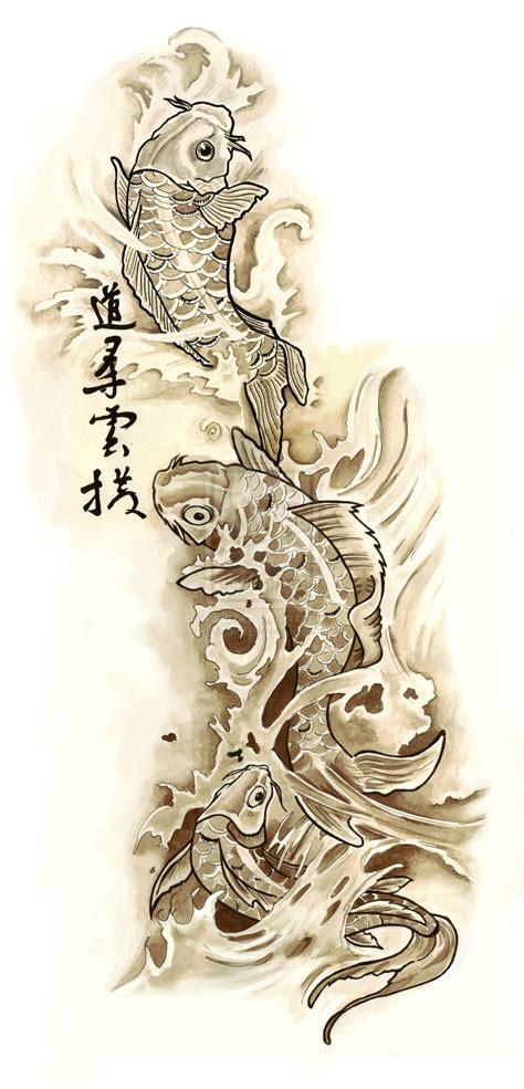 koi tattoo design  mull art  deviantart