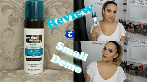 Equate Self Tanner  Review & Small Demo Youtube