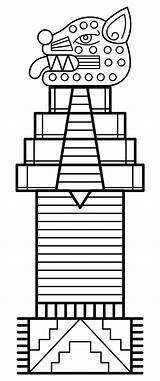 Totem Pole Coloring Printable Templates Printablee sketch template