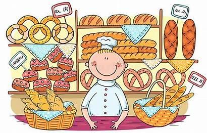 Cartoon Bakery Bread Pane Baker Clipart Vende