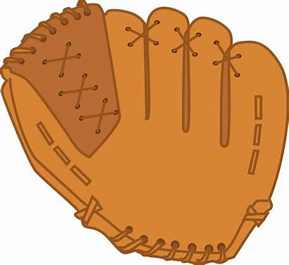 Glove Baseball Cartoon Clipart Mitt Ball Cliparts