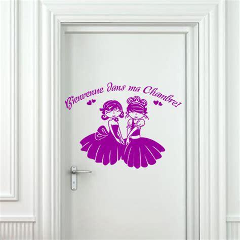 Sticker Porte Bienvenue Dans Ma Chambre  Stickers Chambre