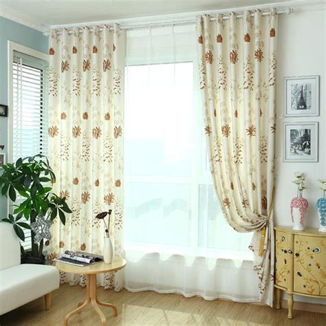 coffee botanical print linen country grommet curtains