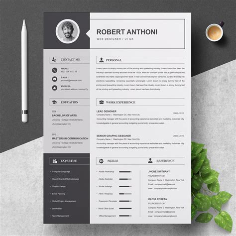 The right cv format for a winning cv is essential to finding work. 2 Pages Resume Template / CV Design | Creative Illustrator Templates ~ Creative Market
