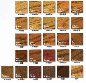 Varathane Stain Color Chart Wood Varathane Wood Stain