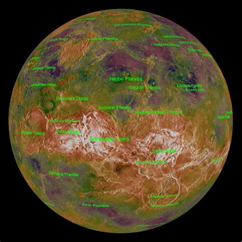 venus topography and radar dataset science on a sphere