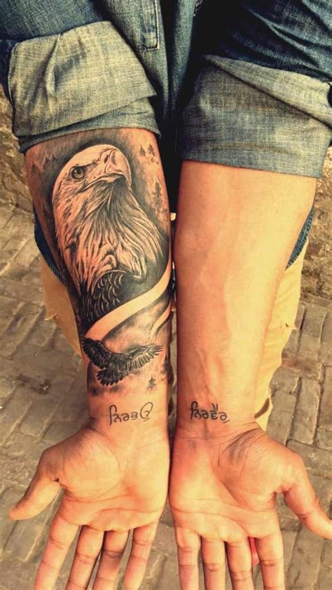 amazing perfectly place eagle tattoos designs  meaning