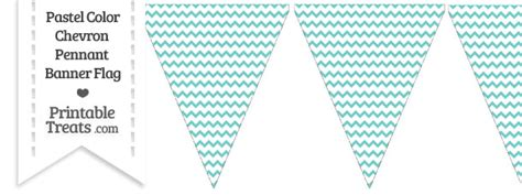 pastel blue green chevron pennant banner flag printable