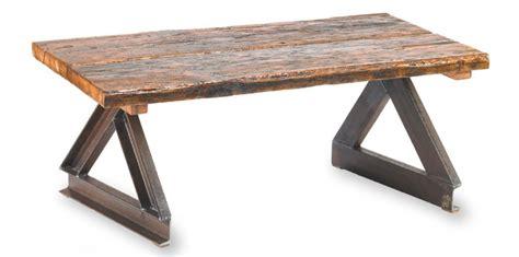 wood metal table  channel coffee  shopgatski  etsy