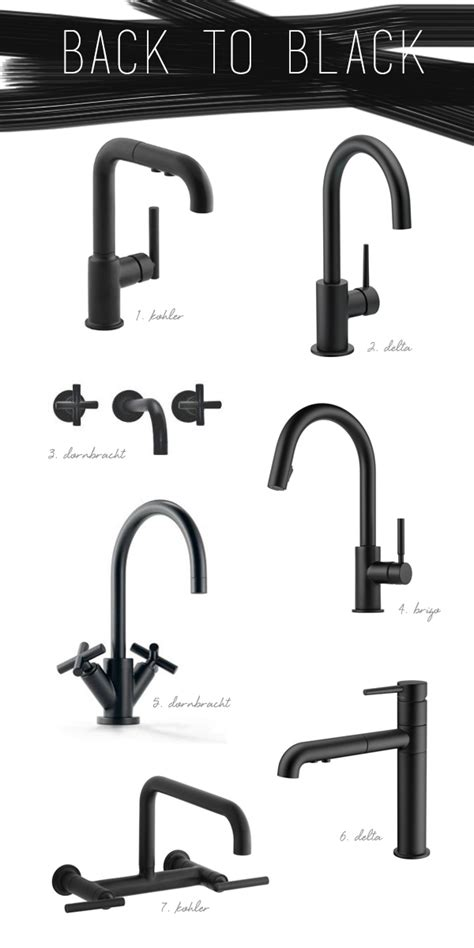 kitchen and bath faucets kitchen trend black vs brass coco kelley kitchen