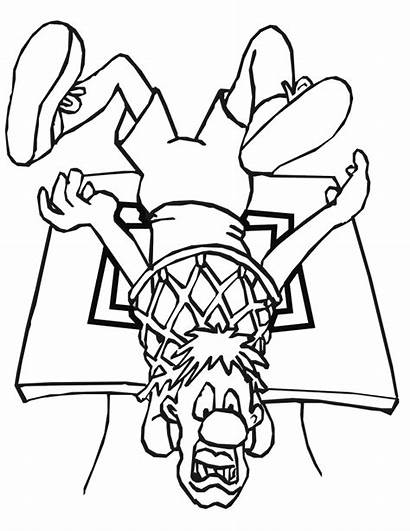Coloring Pages Basketball Printable Jam Space Drawing