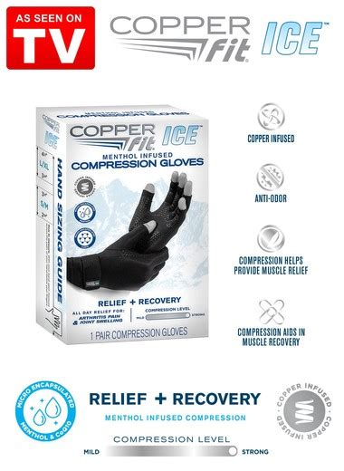 menthol ice compression gloves drleonardscom