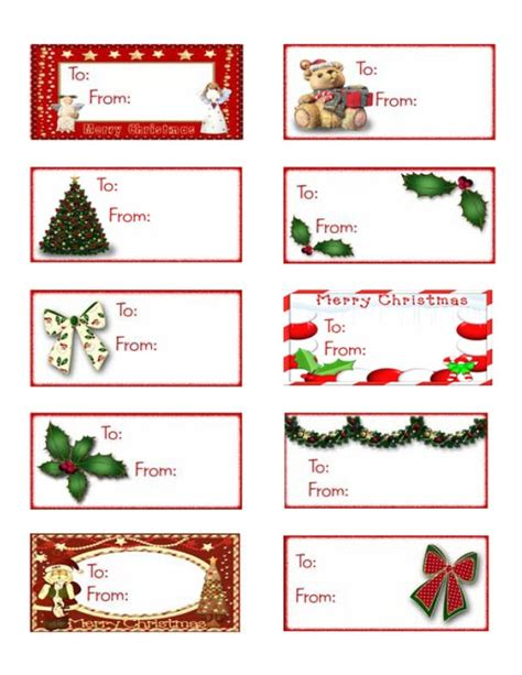 printable holiday gift tags christmas labels party