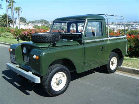 land rover series  iia factory pickup pick  truck