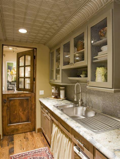 ceiling tiles tin ceilings kitchen backsplash dutch houzz decor door designs doors rustic faux tile kitchens galley pantry room eclectic