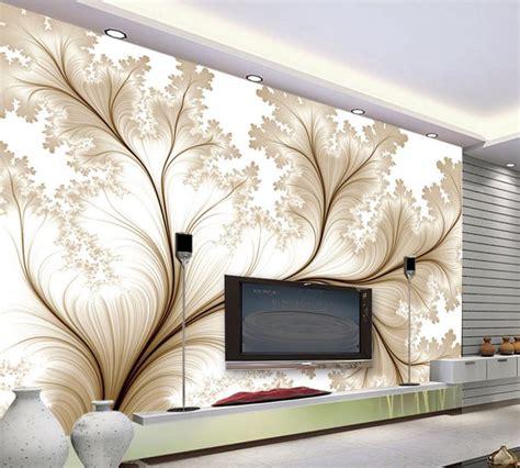 modern minimalist wallpaper  simple flowers custom