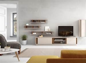 Meuble Tv Avec Etagere : salon meuble tv megeve meuble tv avec une porte tag res au centre et deux tiroirs porte ~ Teatrodelosmanantiales.com Idées de Décoration
