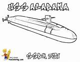 Submarine Coloring Uss Pages Alabama Navy Colouring Yescoloring Force sketch template