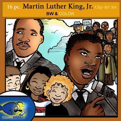 freebie martin luther king jr  pc clip art set  bw