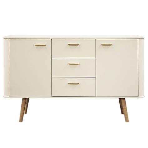 Scandinavian Sideboard by Piano Scandinavian Style Sideboard White With Oak Legs Fads