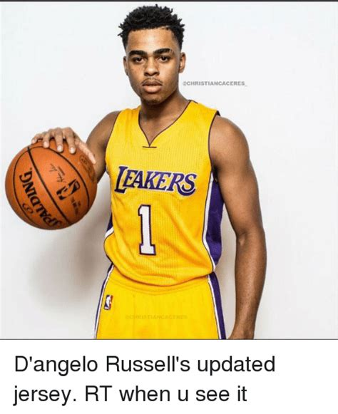 D Angelo Russell Memes - ca ceres lakers christian aceee d angelo russell s updated jersey rt when u see it d angelo