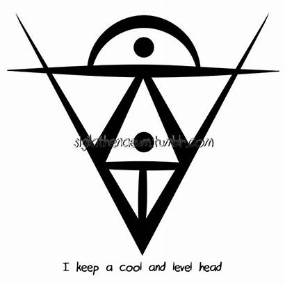 Sigil Cool Level Head Keep Luck Clipart