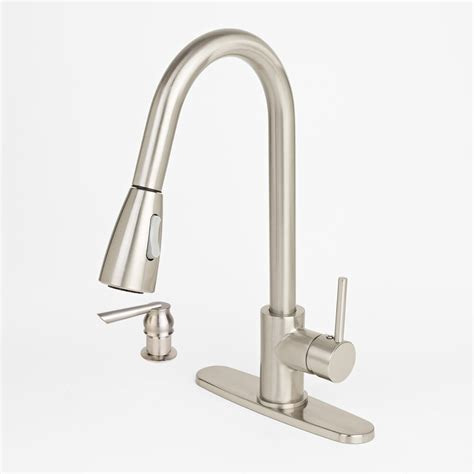 brushed nickel kitchen sink faucet soap dispenser new modern brushed nickel kitchen sink faucet pull out