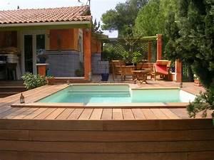 construction d39une piscine hors sol herault 34 With construction piscine hors sol en beton 2 terrasse bois autour d une piscine hors sol