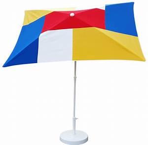 Parasol Inclinable Rectangulaire : parasol rectangulaire 200x150 mondrian parasol classique parasol de balcon ~ Teatrodelosmanantiales.com Idées de Décoration