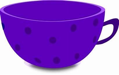 Cup Tea Purple Dot Clip Pinky Clipart
