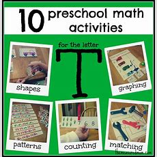 10 Preschool Math Activities (the Letter T)  The Measured Mom