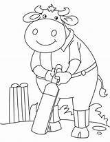 Buffalo Cricket Playing Coloring Pages sketch template