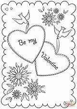 Coloring Card Valentine Valentines Cards Printable Happy Printables Drawing Crafts Games Creative Duathlongijon sketch template