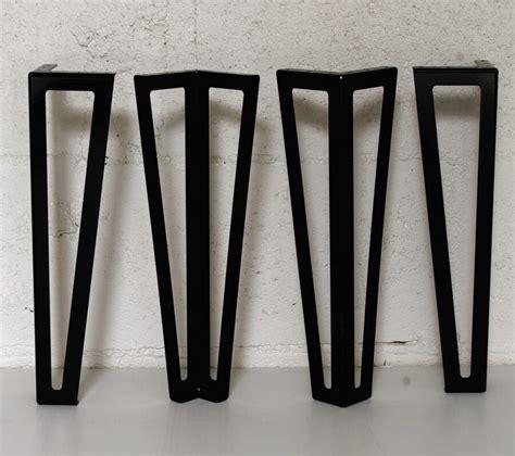 meuble sous bureau pied type hairpin legs pour table basse 40cm ref