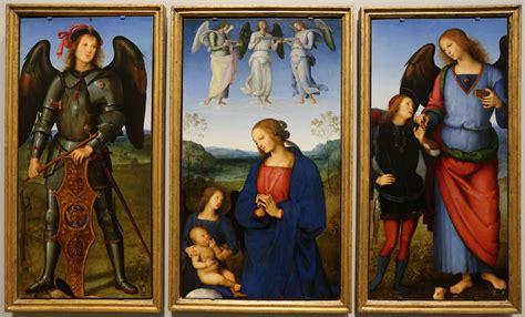 file pietro perugino madonna col bambino e angeli tra gli arcangeli michele e raffaele con
