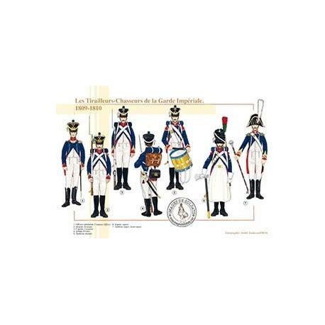 le bureau la garde les tirailleurs chasseurs de la garde impériale 1809 1810