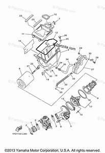 Yamaha Atv 2012 Oem Parts Diagram For Intake