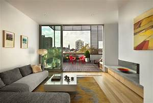Wyckoff Penthouse Living Room and Deck contemporary-living