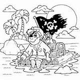 Coloring Pirate Raft Scallywag Surfnetkids Parrot sketch template