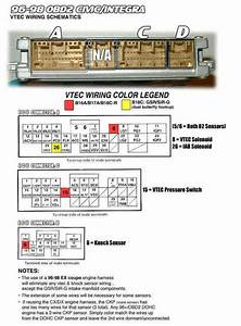96-98 Obd2 Civic  Integra Vtec Wiring Schematics