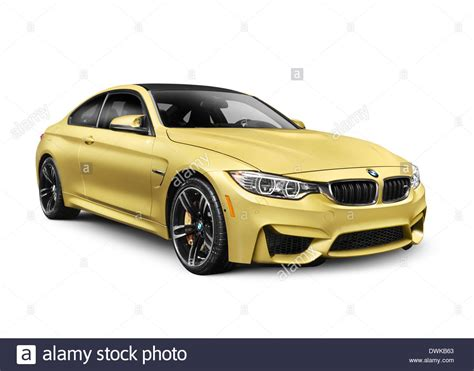 Bmw M4 Coupe Backgrounds by Gold 2015 Bmw M4 Coupe Performance Car Isolated On White