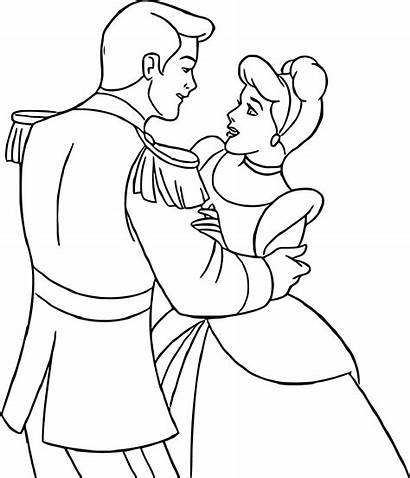Cinderella Prince Coloring Charming Disney Princess Dancing