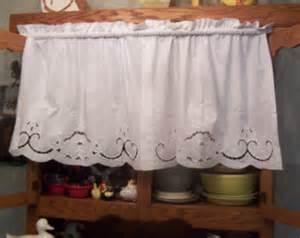 vintage white battenburg lace cafe curtains 100 cotton 59