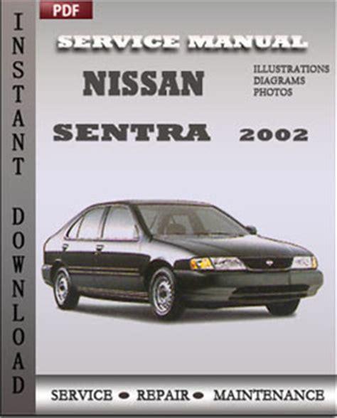 service repair manual free download 2002 nissan sentra security system nissan sentra 2002 free download pdf repair service manual pdf
