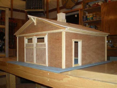woodworking project toy barn model   rolling