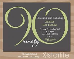 90th birthday invitations birthday party invitations With 90th birthday invites templates