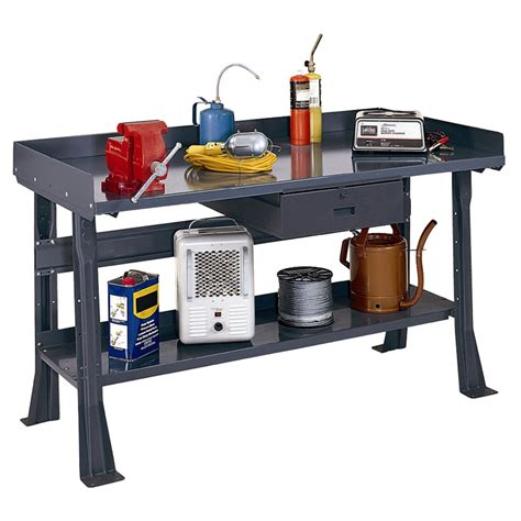 edsal flare leg workbench  drawer steelplastic
